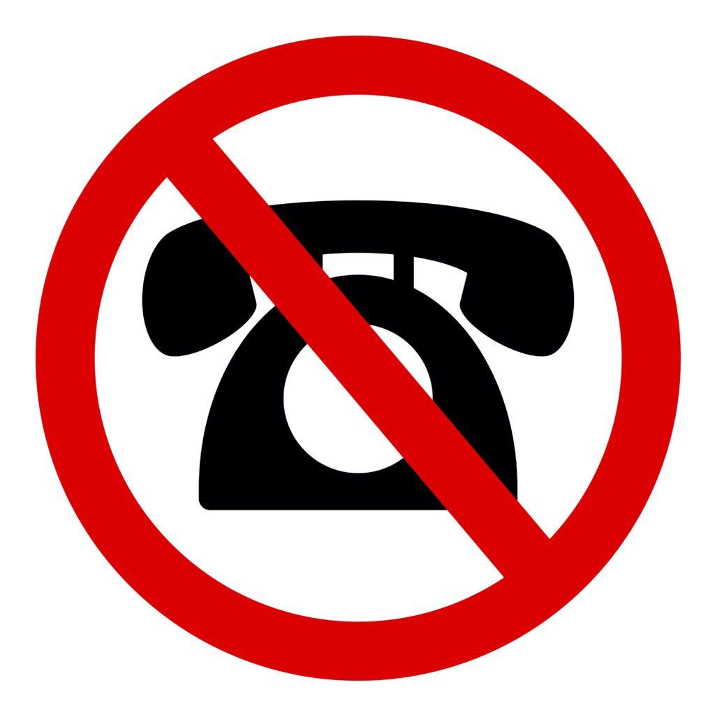 電話対応不可